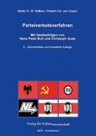 Parteiverbotsverfahren JBÖS - Sonderband 2 5. Aufl. 2017